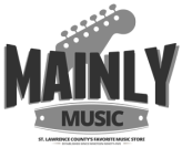 Mainly Music | 315-769-6150 | Acoustic & Electric Guitars, Band Instruments & Accessories |  Serving Massena, Potsdam, Canton, Malone, Ogdensburg and Cornwall, Ont. since 1995.